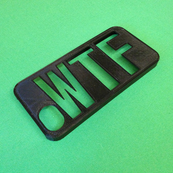 WTF 3D printed iPhone case by HEISEL