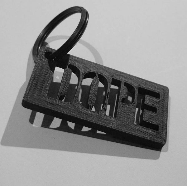 3D Printed Carbon Keychain by HEISEL