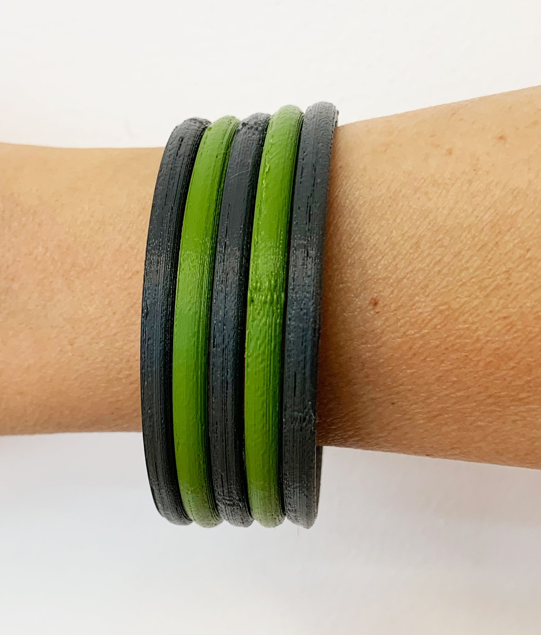 Compostable Bio-Plastic Bangles by HEISEL