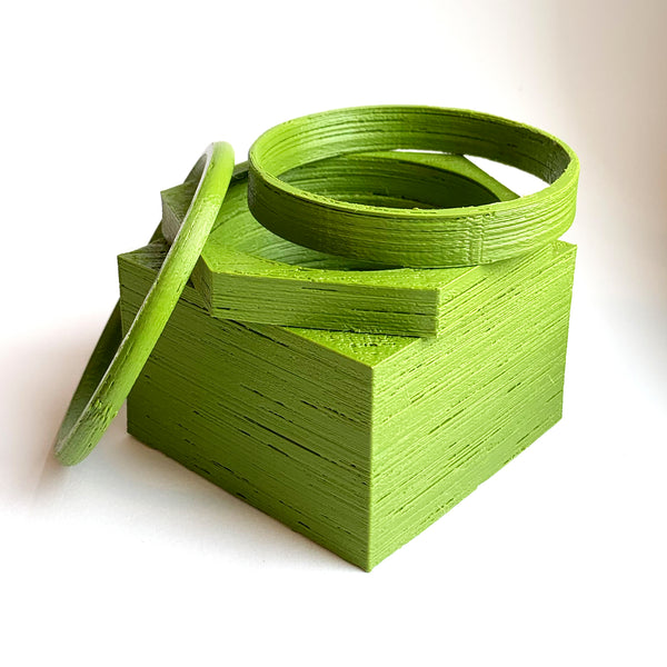 Compostable Bio-Plastic Bracelet Set #1 by HEISEL