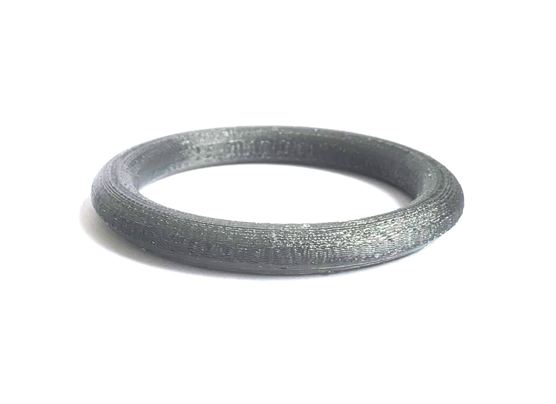 Silver Smoke Bio-Plastic Bangle Bracelet by HEISEL
