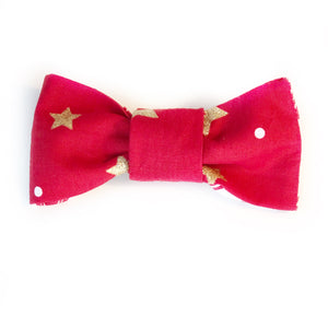 The Knit 9 Reversible Bow - Glitter Trees and Stars