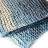 Cosy Handknit People Scarf - Seascape