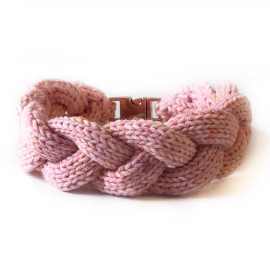 The Knit 9 Twist - Decorative Dog Collar -  Rose