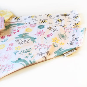 Summer Meadow - Hare Today Bandana - White