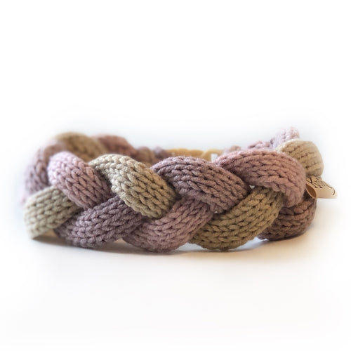The Knit 9 Twist - Decorative Dog Collar - Pebbles