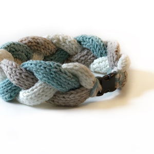 The Knit 9 Twist - Decorative Dog Collar - Sea Breezes