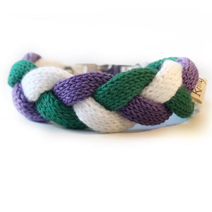 The Knit 9 Twist - Decorative Dog Collar - Wimbledon