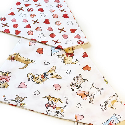 Puppy Love Bandana - White