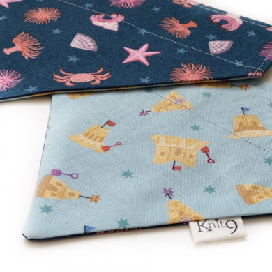 Sandcastles & Rock Pools Reversible Bandana