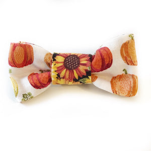 The Knit 9 Reversible Bow - Pumpkins & Sunflowers
