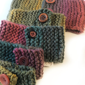 Cosy Handknit Dog Scarf - Autumn Leaves