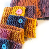 Cosy Handknit Dog Scarf - Bubble Gum