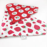 Strawberries and Flowers Bandana