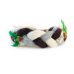 The Knit 9 Twist - Decorative Dog Collar - Christmas Pudding