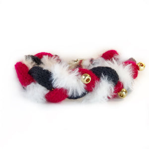 The Knit 9 Twist - Decorative Dog Collar - Santa