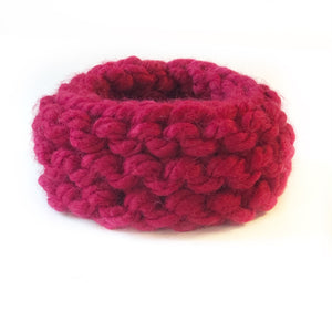 Super Chunky Dog Scarf Snood Raspberry Red
