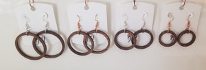 Wood Hoops Earrings