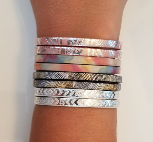 Printed Leather Bracelets