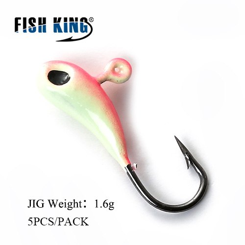 FISH KING Mormyskaer 1.2g 1.6g 1.7g 5pk
