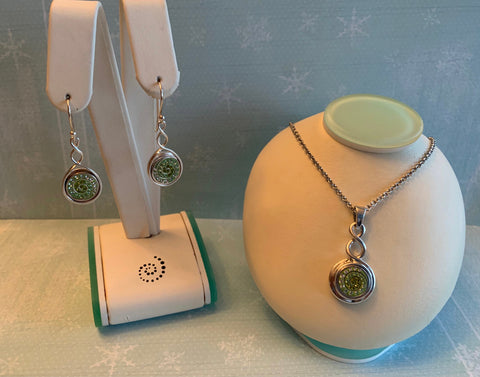 Twist Pendant & Earring Gift Set