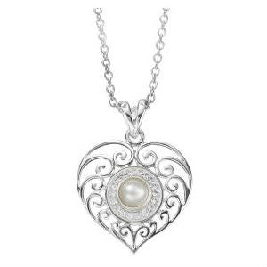 Heart & Soul Pendant KP031 with Snow Queen Jewel Pop & Chain