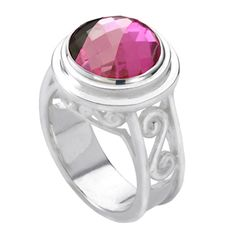 Scroll Ring KR002 with Jewel Pop Size 5