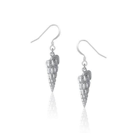 Amos Pewter Staircase Shell Earrings