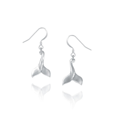 Amos Pewter Whale Tale Earrings