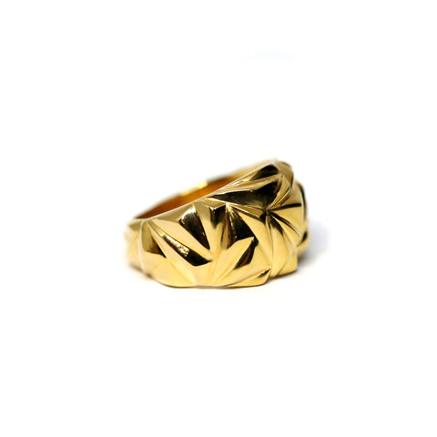 Vermeil Gold Domed Ring Bena Jewelry