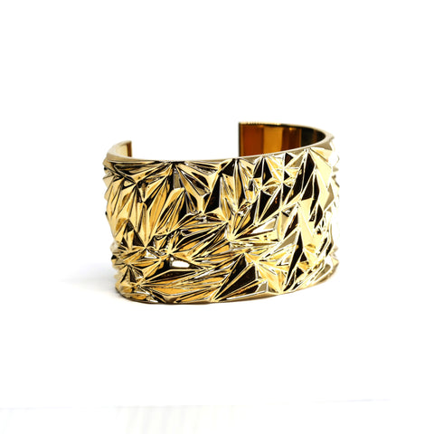 Vermeil Gold Cocktail Bracelet Bena Jewelry Jewelry Designer Chiseled Collection Montreal Fine Jewelry Design
