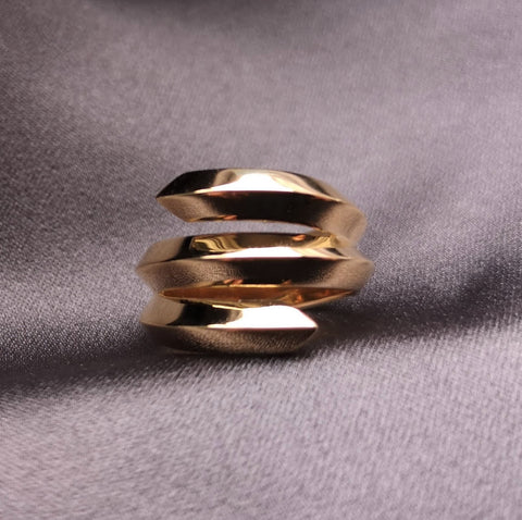 Gold Bold Ring Benaderette Fine Jewelry