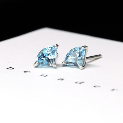 Fancy Shap Topaz Gemstone Stud Earrings