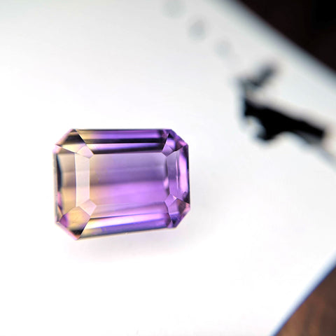 Emerald Cut Ametrine Gemstone