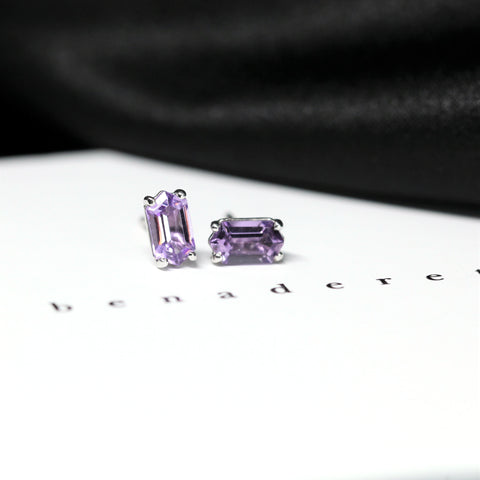 Amthyst Stud Earrings Benaderette Fine Jewelry