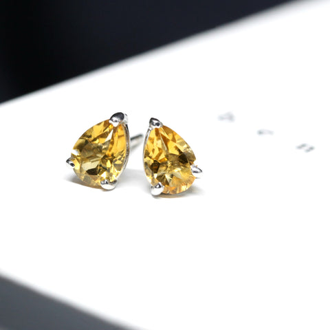 Citrine Stud Earrings Benaderette Fine Jewelry
