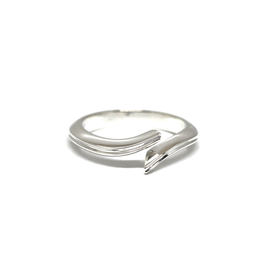 Silver Simple Open Laces Band