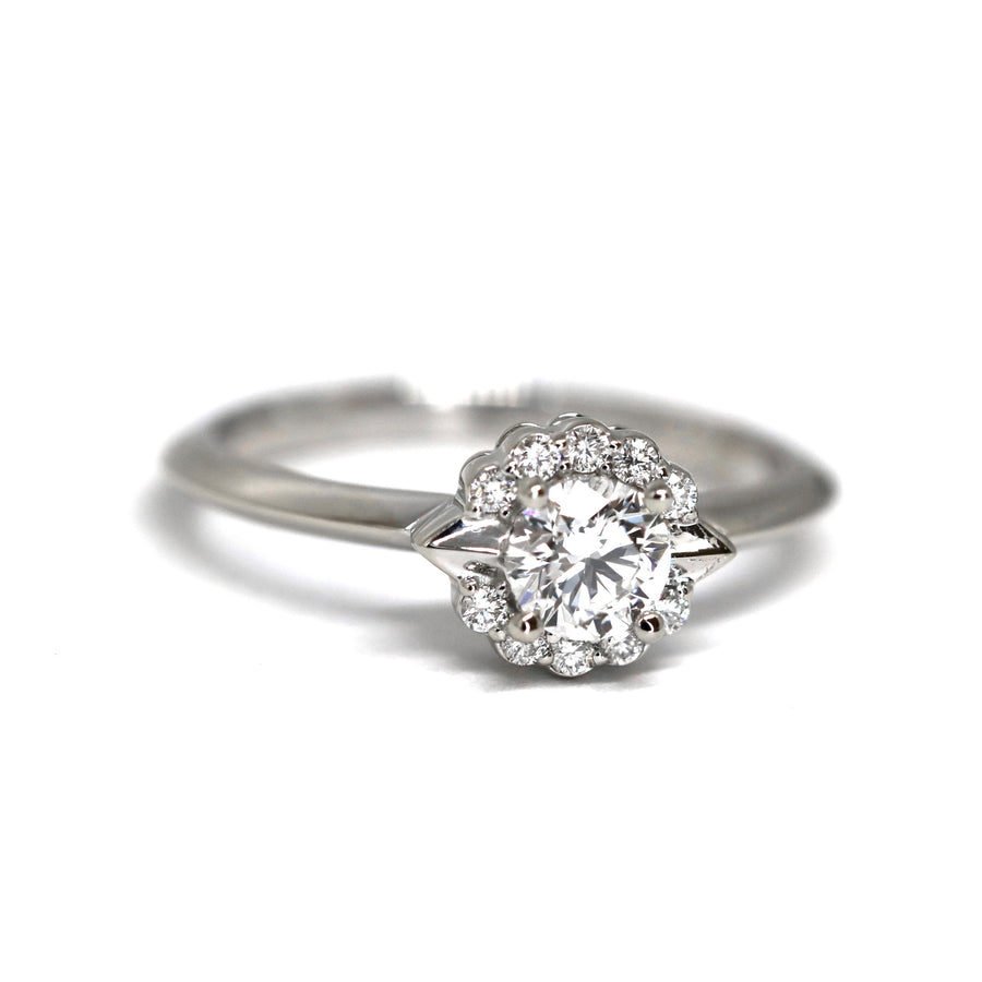 Signature Round Diamond Ring  - Central Stone 0.40 ct
