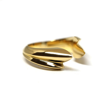 Gold Vermeil Edgy Slick Double Open Ring