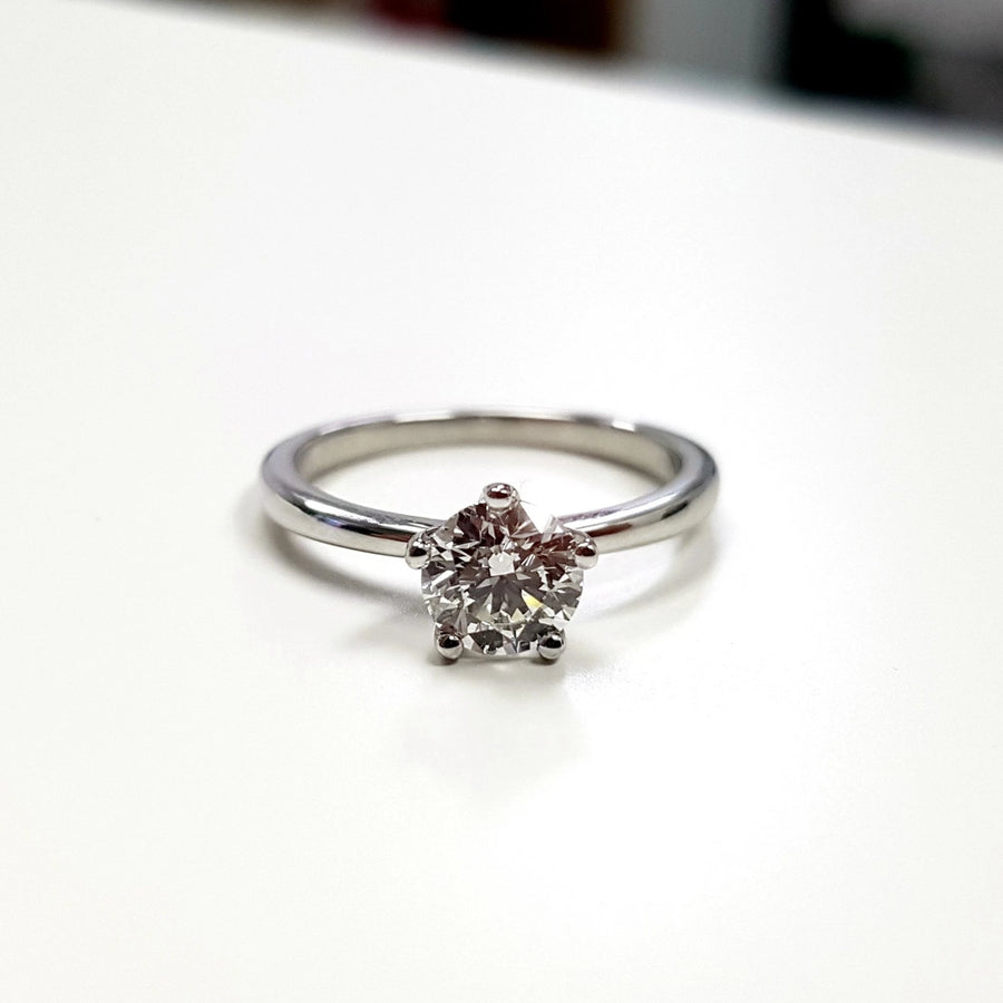 Round Diamond White Gold Engagement Ring