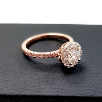 Rose Gold Round Diamond Engagement Ring