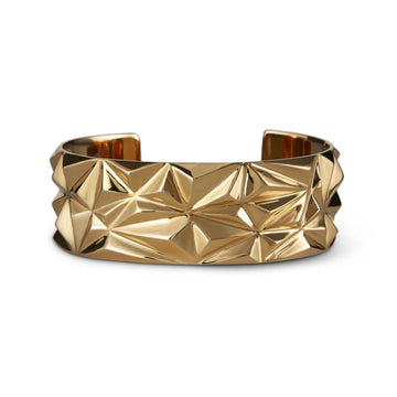 Bena Jewelry Bold Braclet Vermeil Gold Silver Plated Chiseled Collection Montreal Made in Canada