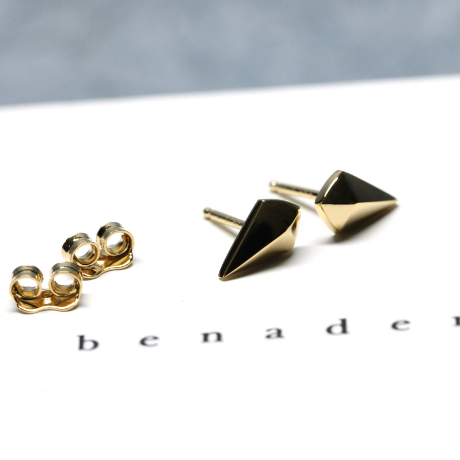 Gold Vermeil Mini Spade Earrings