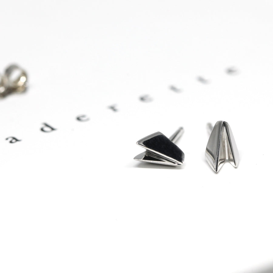 Small Silver Edges Earrings