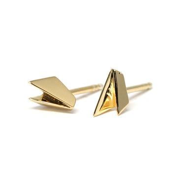 Bena Jewelry Stud Earrings Vermeil Gold Small Fine Everyday Jewels Made in Montreal Canada