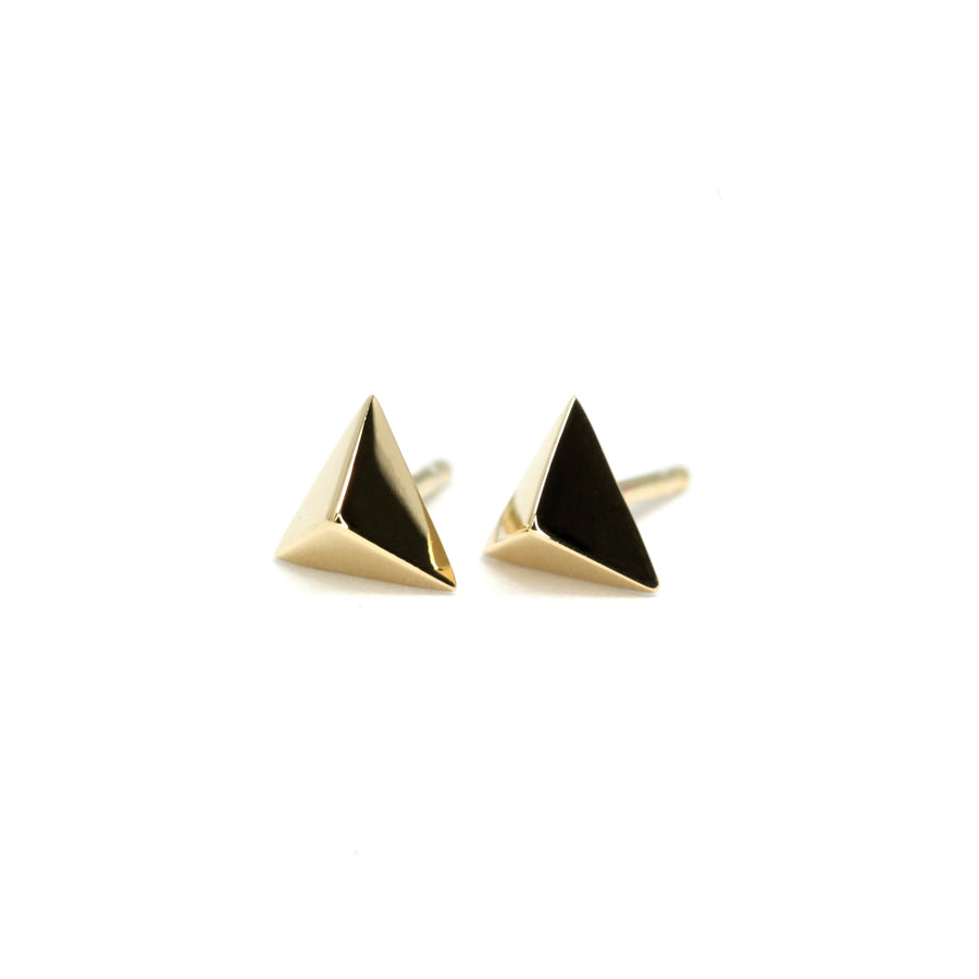 Small Gold Vermeil Pyramid Second Edition Earrings