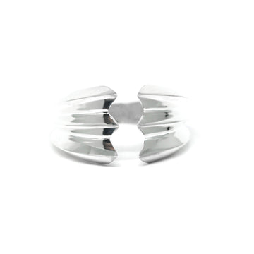 Silver Edgy Open Ring