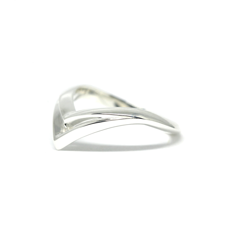 Silver Slim Laces Ring