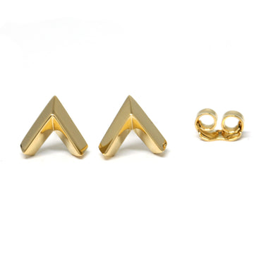 Bena Jewelry Vermeil Gold Earrings Studs Arrow Shape Minimalist Jewelry Design Handmade in Montreal Canada