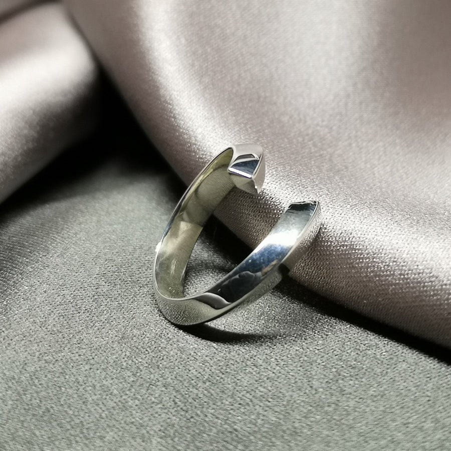 Simple Sterling Silver Fine Jewelry Modern Design Jewelry Designer